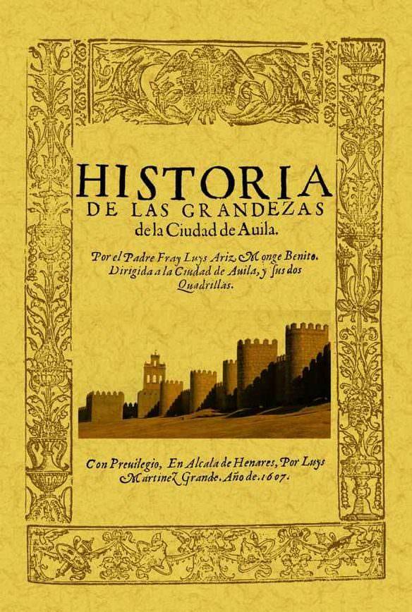 Portada Libro Historia de Avila Padre Fray Luis Ariz
