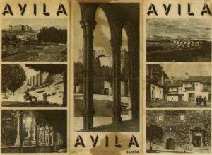 Portada de folleto de postales de ávila 1930