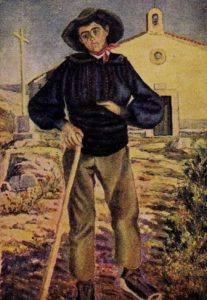 Postal de chico abulense de Rovira Mestre. 1930