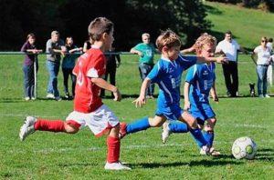 niños jugado futbol explora avila