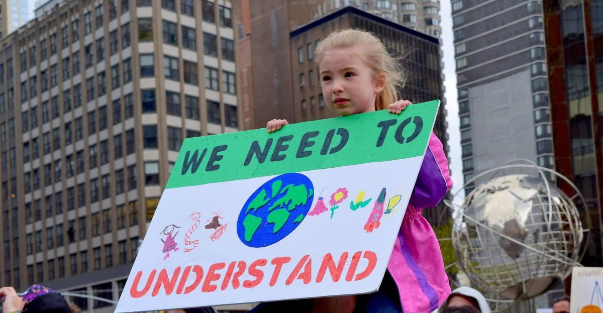 Niños y niñas en marcha para cambiar el mundo