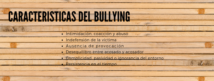 Caracteristicas del bullying ExploraAvila