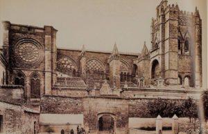 Postal de la catedral de Ávila Roisin 1910