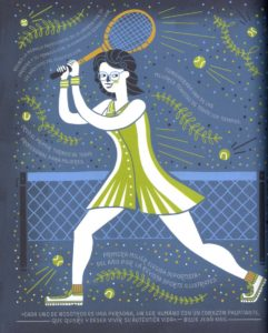Ilustracion Billie Jean King de Rachel Ignotofsky