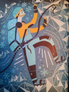 Ilustracion de alpinista por Rachel Ignotofsky