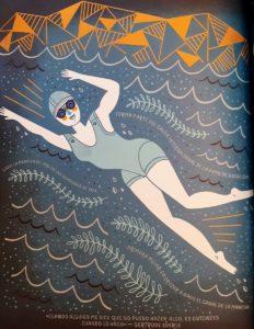 Ilustracion de Gertrude Ederle por Rachel Ignotofsky