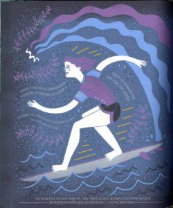 Ilustracion de Layne Beachley por Rachel ignotosfsky